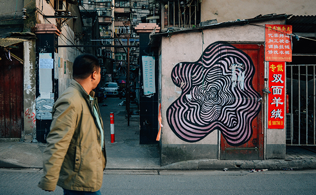 5 places to see the Orange Blowfish's street art in Shanghai
