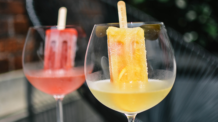 Try this: boozy ice lollies
