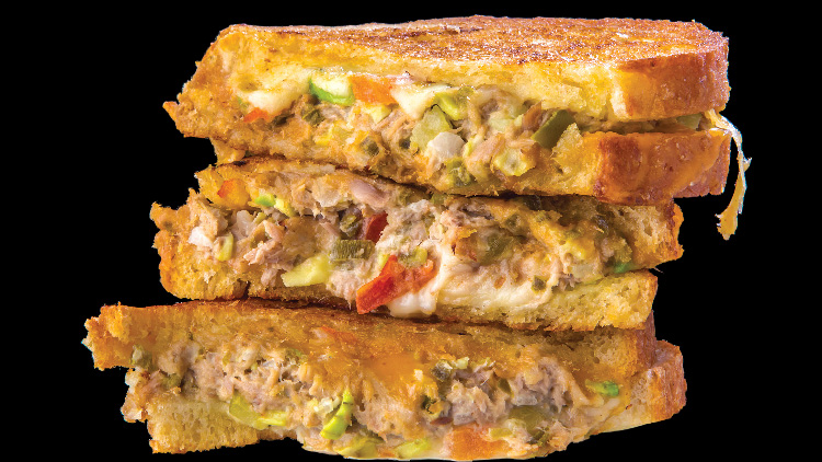 #14 tuna melt grilled cheese