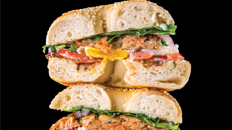 Fatty Salmon Patty bagelwich