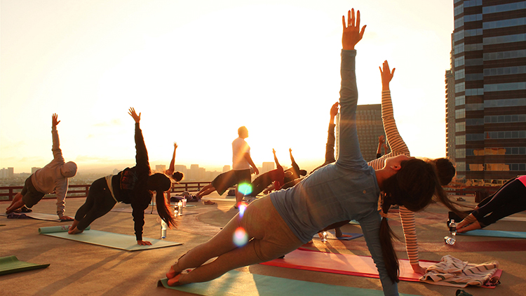 Yoga and brunch session at Bread etc