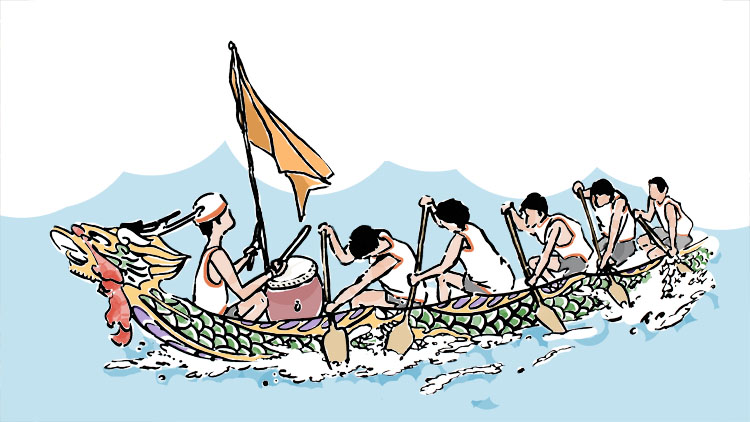 4. Cheer on the Dragon Boat racers at Suzhou Creek