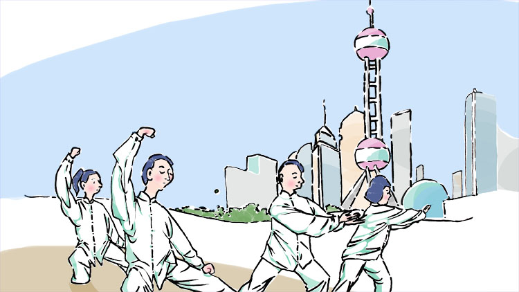 16. Get up for morning tai chi training on the Bund