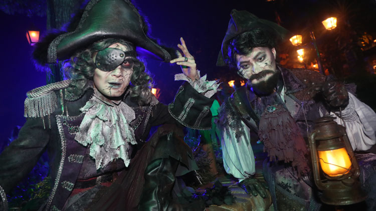 Get up close and personal with spooky pirates