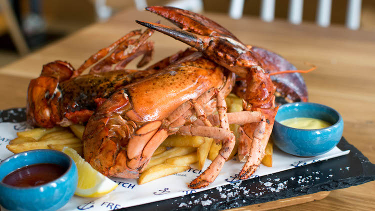 Dig into serious surf n' turf at this new nautical-themed restaurant
