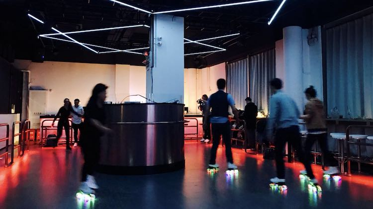 There's a roller rink cocktail bar opening in Shanghai tonight