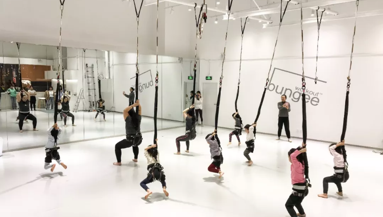 This Shanghai bungee activity class for kids is totally adorable