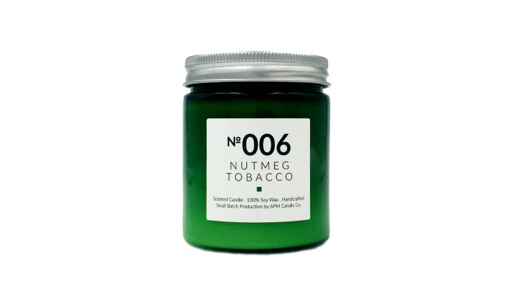 Nutmeg Tobacco soy wax candle