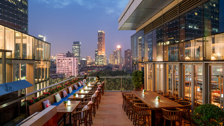 Do all your rooftop drinking while it's not too hot, but still not too cold at...