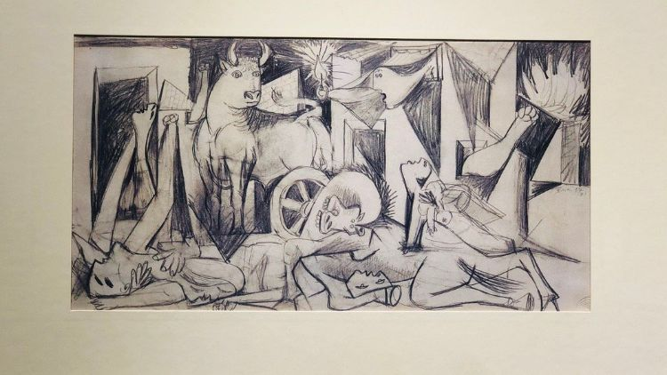 The natural of creation: Guernica lithographs of sketches