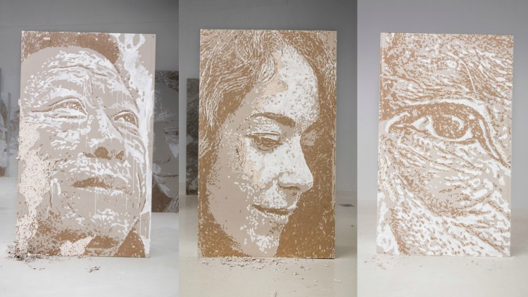 Vhils solo exhibition Realm