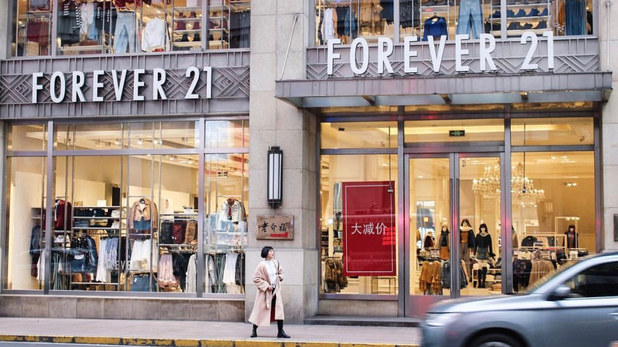 Forever 21 is shutting down operations in China