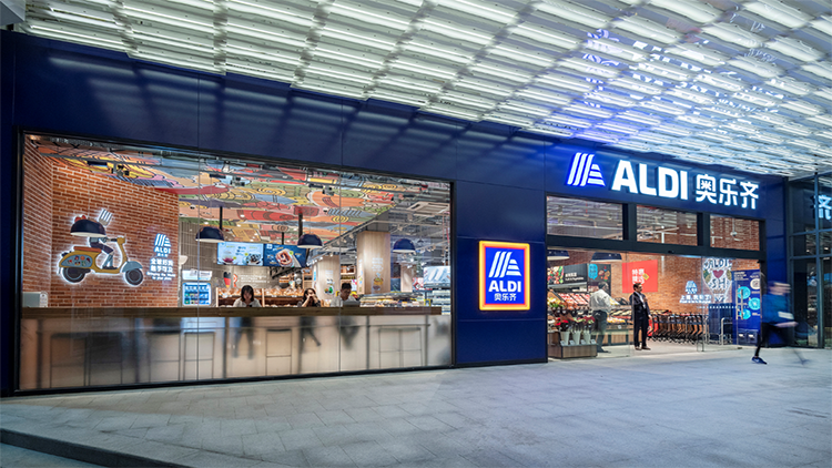 German grocer ALDI has opened two Shanghai shops