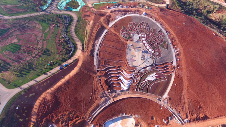 Earthwork artist Stan Herd will create a huge 'living sculpture' in Shanghai