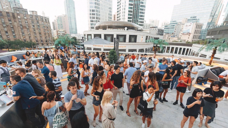 Dance yourself silly at a rooftop party