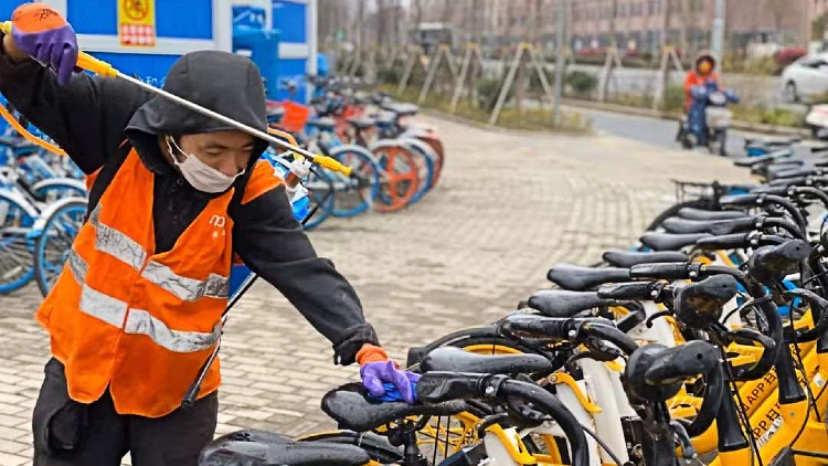 Meituan is asking users to disinfect bikes after rides