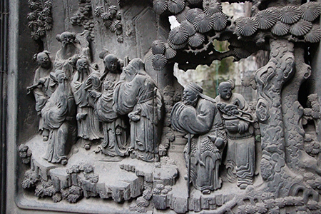 Shu Yin Lou is full of intricate carvings