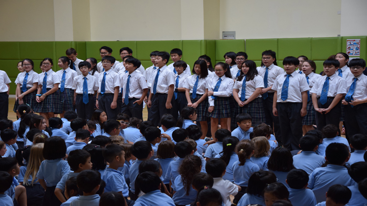 Students also took part in the day's choir sessions