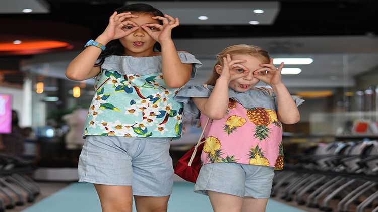Children rocked floral designs on the day