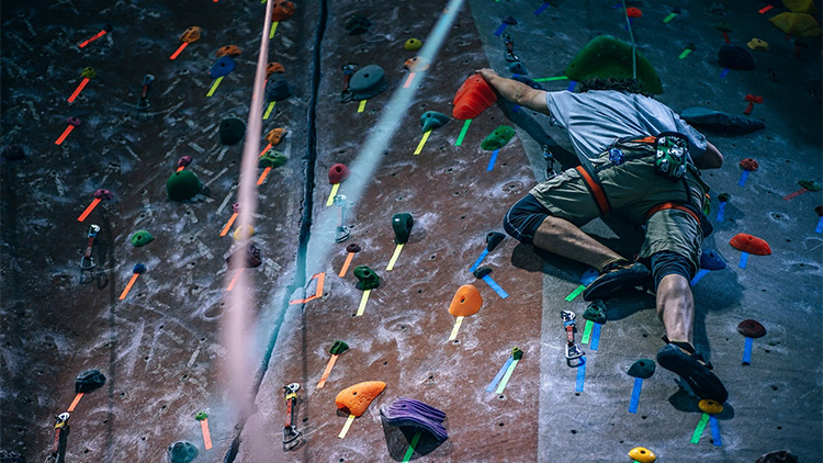 Rock climbing walls in Shanghai