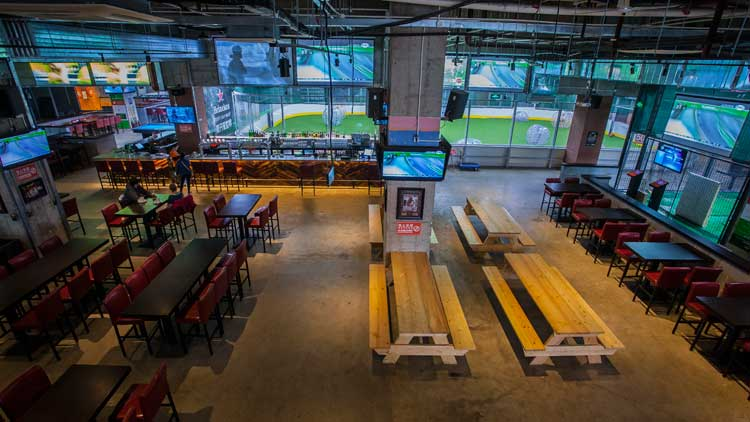 Escape the rain with bats, balls and beers at Cages