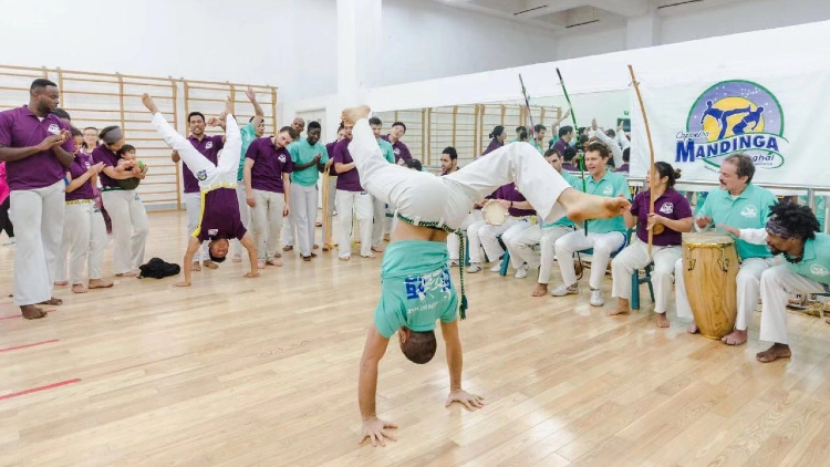 This school offers capoeira classes for all levels