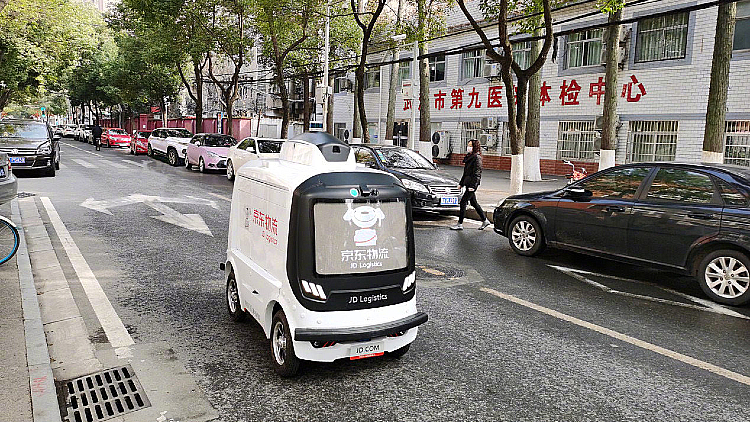 JD driverless delivery car
