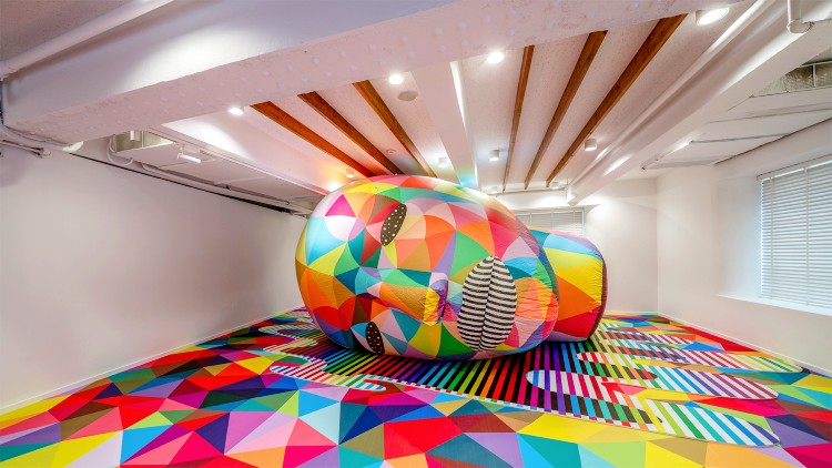 A wonderfully colourful street art exhibition is now at Bund 18